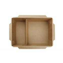 2 Compartment Kraft Lunch Box