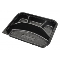 4 Compartment Black Bento Box